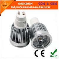 Wholesale 900lm degree Super Bright real w GU10 LED spotlight W LED lamp light GU10 COB Dimmable GU10 led Spotlight V