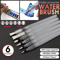 Wholesale set Large Capacity Water Brush Watercolor Art Paint Brush Nylon Hair Painting Brush For Calligraphy Pen