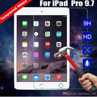 Wholesale 9H D Premium Tempered Glass Screen Protector Guard Film Cover For Apple iPad Pro in