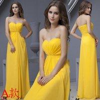 Grace Karin Vestido de noche largo sin tirantes formal de color amarillo Pavo Real Vestidos de noche Elegante Vestido de Soiree Wedding Prom Dress 2016