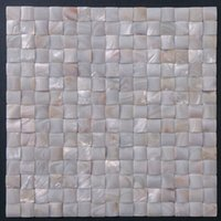 Wholesale 3D Arch Groutless White Mother of Pearl Shell Wall Tile Mosaic Slabs