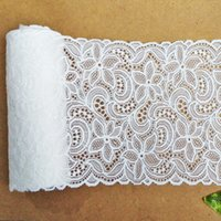 Wholesale 18 CM Width White Jacquard Lace Floral Decoration Ribbon Lace for Dresses Clothing DIY Fabric Lace
