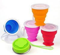 Wholesale Travel Cups Travel Silicone Retractable Foldable Cup Drinkware tumbler Telescopic Collapsible
