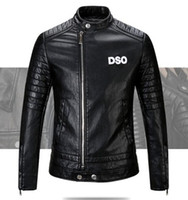 Wholesale New Brand men Motorcycle jacket water washed leather jacket men clothing fashion skull leather coat