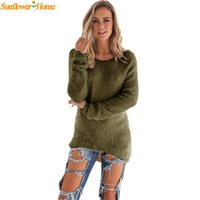Wholesale Newly Design Women Casual Winter Warm Tops Full Sleeve Pullover Soft Sweater