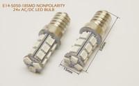 al por mayor tamaños de las bases de bulbo-2pcs E14-5050-18SMD 12-24v el bulbo bajo universal E14 de la nonpolaridad alto brillo y tamaño pequeño para la iluminación del espacio del recinto