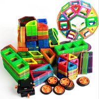 Wholesale Magnetic Building Puzzle Blocks Rainbow colors Magnet Toys Popular Kids Toys Children Vehicle Rocket Building Model set EC