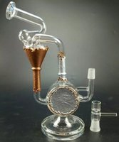 best new tires - 2017 Perfect vortex glass recycler bong new desgin glass water pipes oil rig with tire perc bongs Best Christmas gift beaker bongs