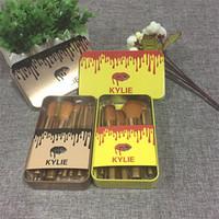Wholesale Kylie Makeup Brush pieces Professional Makeup Brush set Kit Iron box DHL