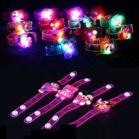 baby shower bracelet - LED Flash Bracelet Halloween Cartoon Emitting Children Luminous Colorful Baby Shower Toys Party Birthday Christmas Xmas Gift XL T116