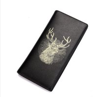 best background patterns - 2016 best quality The latest style of Christmas Black background deer head pattern Men s long fashion wallet
