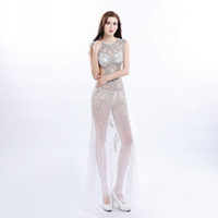 art parquet flooring - See Through Color Crystal Beaded Long Prom Dress Floor Length Sexy Delightful Gossamer Gown Crystal Parquet Flower Backless Evening Dress