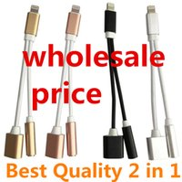 Wholesale High Quality New mm Headphone Jack Adapter For iPhone plus s plus in Earphone Charger lowest price