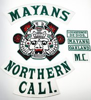 Cheap Patches Mayans North California Motorcycle Embro Best Are Available 35cm for the Top Rocker Patch Full Back