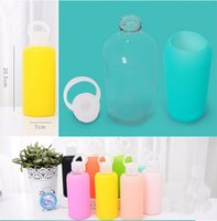 CE / EU acid fun - Fun candy colors creative mL glass cups Colored jelly cup kettle Silicone Case Cover carry a water bottle