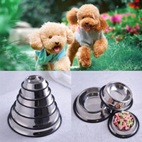 Wholesale 1PC Hot Newest Stainless Steel Standard Pet Dog Puppy Cat Food or Drink Water Bowl Dish Size