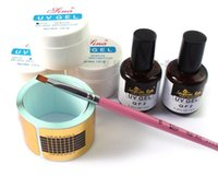 Wholesale 3 colors UV Gel Nail Tools Builder French Nail Effect Clear White Pink UV Topcoat Base Gel Nail