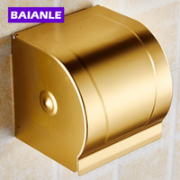 aluminum rolled products - Hot sale Gold Toilet Paper Holder with Ceramics Roll Holder Tissue Holder Solid Aluminum Bathroom Accessories Products