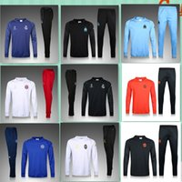 Wholesale New Real Madrid Marseille jersey Best Quality Olympique Survetement football tracksuit jersey training suits Sweatshirts