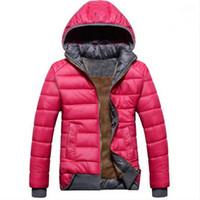 Wholesale new women sport coat plus velvet down jacket women s winter warm hooded jacket Removable