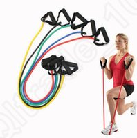 other   Exercise Latex Resistance Bands Pilates Tube Workout Yoga Gym Fitness Stretch Workout Handles Yoga Bands Pull Rope 11pcs set OOA1226