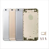 Nouveau pour iPhone 5 5S 6 6S Plus Châssis de rechange pour pommeau arrière Carter arrière + LOGO + Boutons + Bac Sim Haute qualité