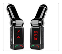 Wholesale Car Kit Bluetooth FM Transmitter Wareless MP3 Player Modulator Handsfree LCD with Dual USB Charger for iPhone S BC