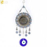 big pendulum - CSJA Trendy Islamic Quran Koran Pendulum Hanging Pendants Turkey Evil Eye Blue Muslim Religious Charms Amulet Big Jewelry E287