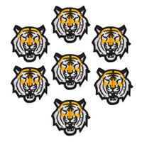 animal patches for clothes - 10pcs Tiger patches animal badge for clothing iron embroidered patch applique iron sew on patches sewing accessories for clothes