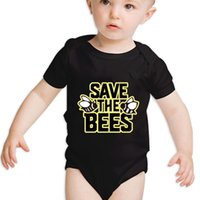 baby urban clothing - 100 Cotton Baby Short Sleeve One Piece Save the Bees Cute BABY romper for M urban clothing suit girls boys clothes