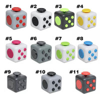 Wholesale Fidget Cube colors the world s first American decompression anxiety Toys with Retail Box Fedex DL fast shipment