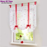 Wholesale New Roman Leaf Tulle Window Treatments Sheer Curtain for Living Room the Bedroom Kitchen Tyra Panel Draperies and Blinds drapes