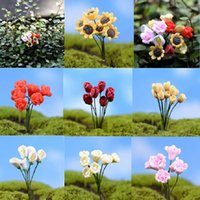 accessories potted flowers - 6PCS Set Real Crafts Home Decoration Accessories Kawaii Flowers For Miniature Garden Ornament Dollhouse Plant Pot Diy Craft