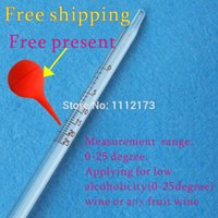 Wholesale degrees professional alcohol meter wine measurement instrument dropshipping wine alcohol meter thermometer