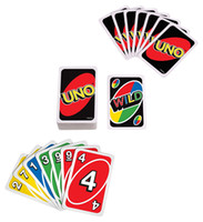 Wholesale UNO Poker Card Standard Edition Family Fun Entermainment Board Game Kids Funny Puzzle Game in stock