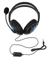 Wholesale High Quality Wired Gaming Headset Headphones with Microphone for Sony PS4 for PlayStation Black Color