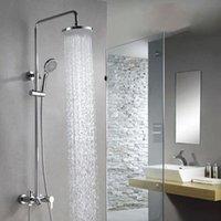 Wholesale New Modern Chrome Finish Rainfall Shower Set Bath Tub Shower Mixers with Handshower quot Rain Showerhead