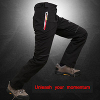 Wholesale Outdoor Ski Pants Male Models Hip Hop Winter Thick Waterproof Warm Two Piece Removable Mountaineering Ski Pants Warm Hiking Pants