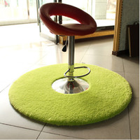 Wholesale Soild Color Round Foam Rug Non Slip Shower Bedroom Mat Door Floor Carpet Round Rug Colors Available