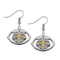 american saints - Fashion Sport Jewelry Alloy With Enamel New Orleans Saint Charm Earring American Football Team logo Drop Earring
