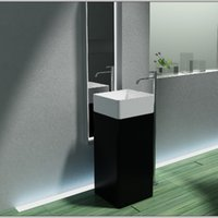 Wholesale Pietra Bianca Modern Bathroom Furniture Acrylic Resin Stone Solid Surface Freestanding Basin PB2174