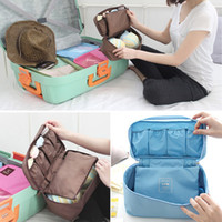 Wholesale New Cosmetic Organizer Underwear Lingerie Bra Bag Multiple Pockets Travel Organizer Cosmetic Makeup Kits Tools Toiletry Storage Case