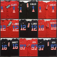 Wholesale Ohio State Buckeyes Ezekiel Elliott jerseys Cardale Jones Joey Bosa J T Barrett Braxton Miller Buckeyes Flag Jersey