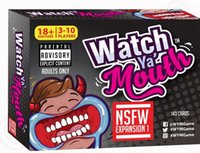 Wholesale Watch Ya Mouth Adult Phrase Card Game Expansion Pack Fun Gift Family Party Christmas Board Game KKA969