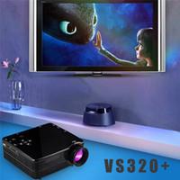 audio learn - VS320 Miniature Projector LED Learning Preschool HD Mini Portable Home Projectors with HDMI USB VGA SD AV Port audio jack