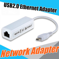 Wholesale Micro USB Male To RJ45 Female Mbps Fast External Ethernet LAN Network Card Adapter For Windows Android PC Laptop Tablet