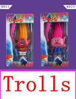 Wholesale 2016 movie Trolls vinyl Action Figures Toys For Kids Christmas Gift package Anime Figurines Kids Toys for Boys Girls