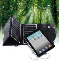 Wholesale 16W Portable Solar Panel Charger Dual Output V Solar Power Bank Camping Charger for outdoor use