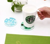Wholesale Starbucks Snowflakes Coasters Cup Cushion Holder Non slip heat insulation Coasters Cup Mat