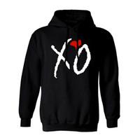 Wholesale New Fashion Ovoxo Owl XO The Weeknd Drake Loose Hooded Hoodies Rap Hip Hop Print Loose Pullover Sweatshirts